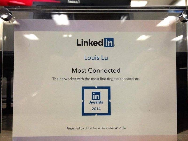most connected linkedin 2014