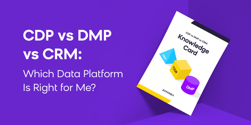 What's the difference among CDP, CRM & DMP Data Platform