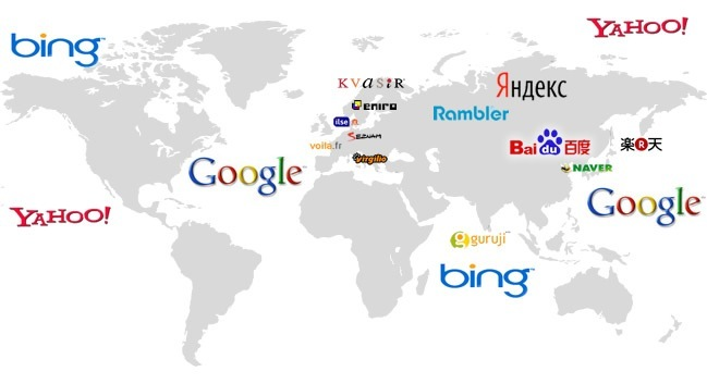 asia search engine map