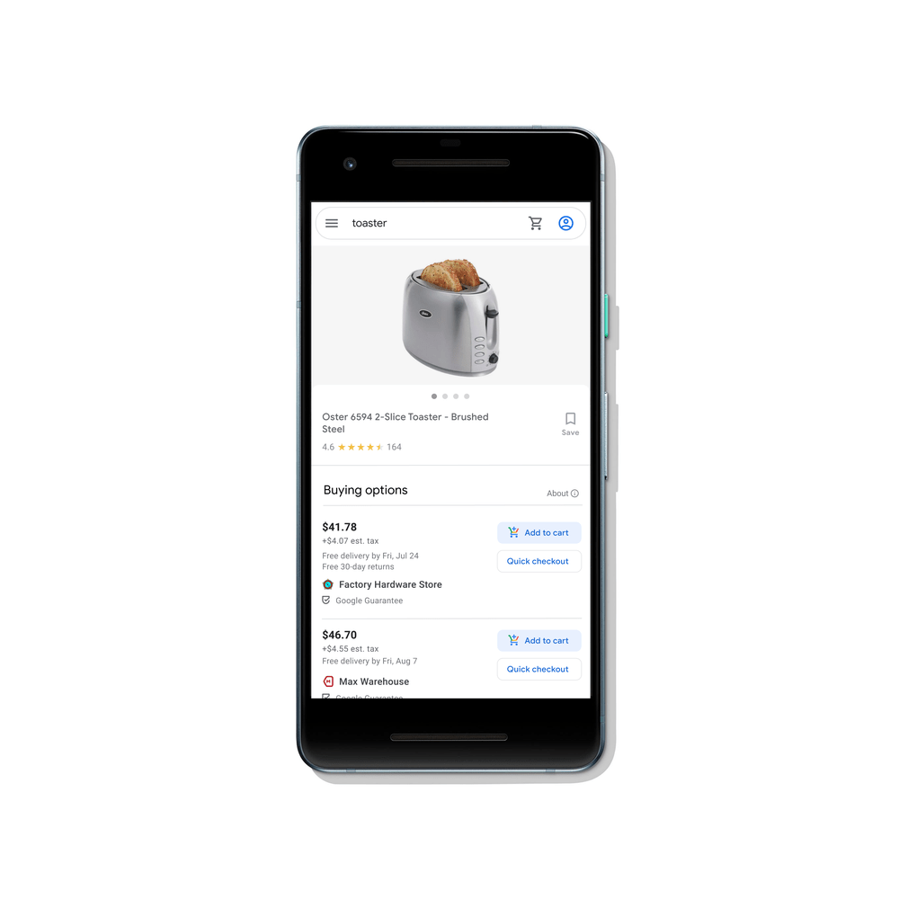 buy on google shopping action