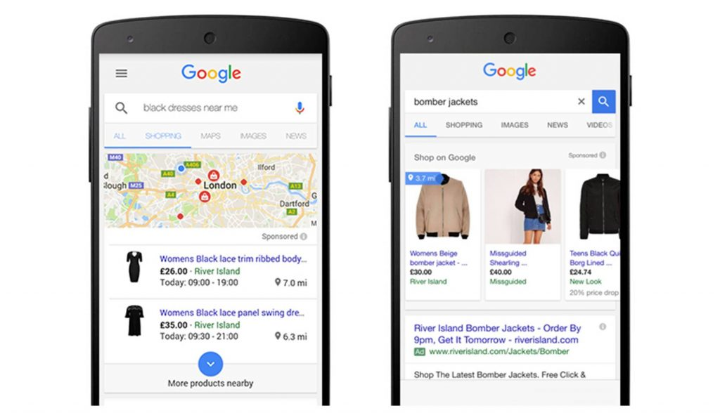 local surfaces across google