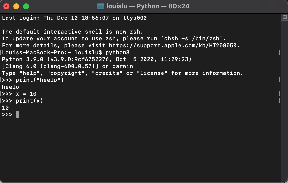 python codes and functions