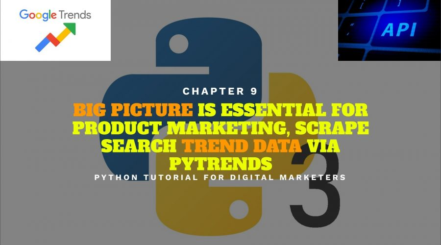 Python Tutorial for Digital Marketers 9: Big Picture Matters, How to Pull Data from Google Trends API via Pytrends